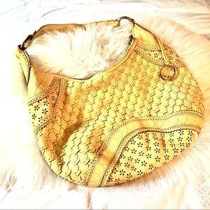 Elliott Lucca yellow vintage leather bag💕